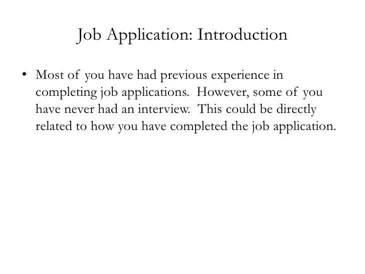 Job application sample – Job Application Sample