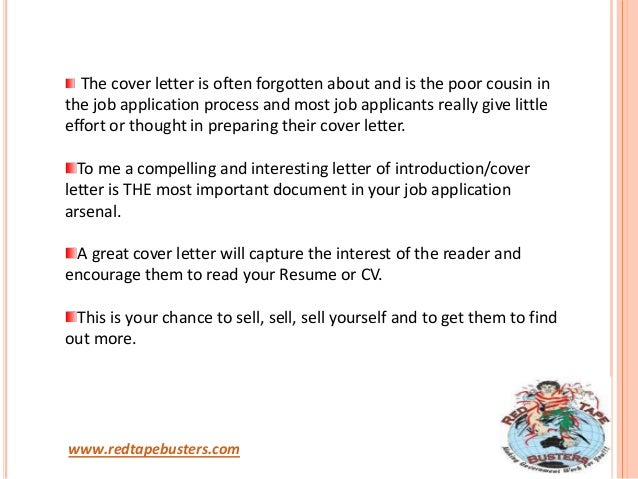 the importance of cover letter The resume and cover letter are staples in the job search they're the number one thing you use to get your foot in the door, highlight your successes and.