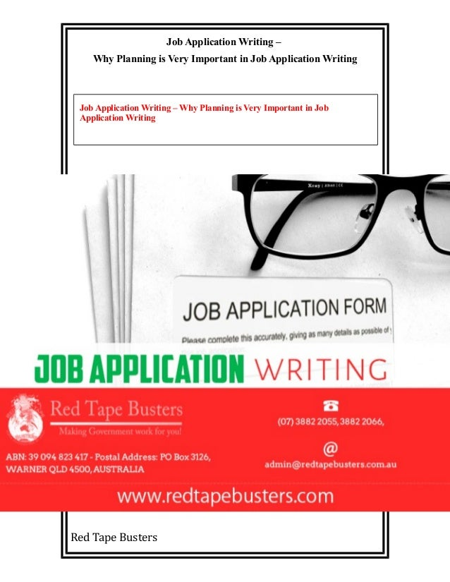 Job Application Writing Why Planning Is Very Important In Job Appli