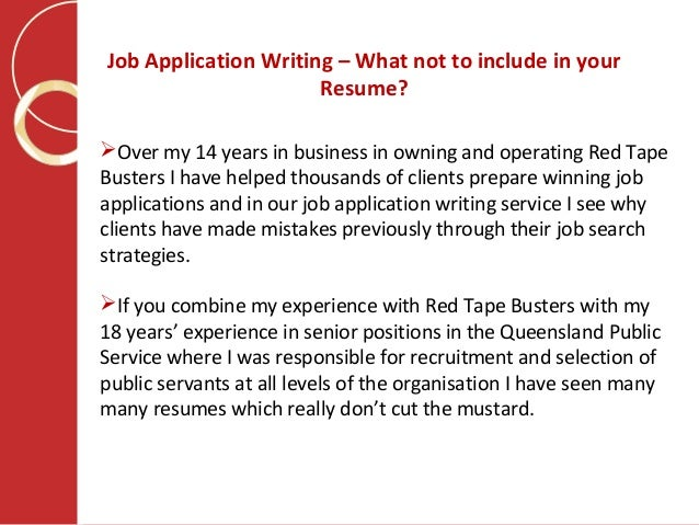What To Include In A Resume | Job Application Writing What Not To Include In Your Resume