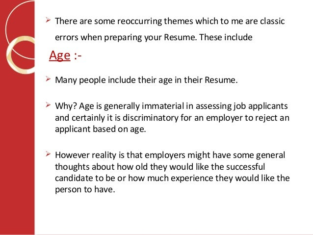 Job Application Writing – What Not To Include In Your Resume?