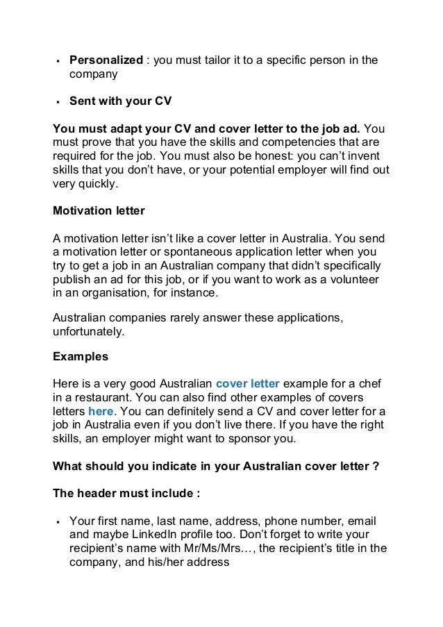 19 - Australian Cover Letters