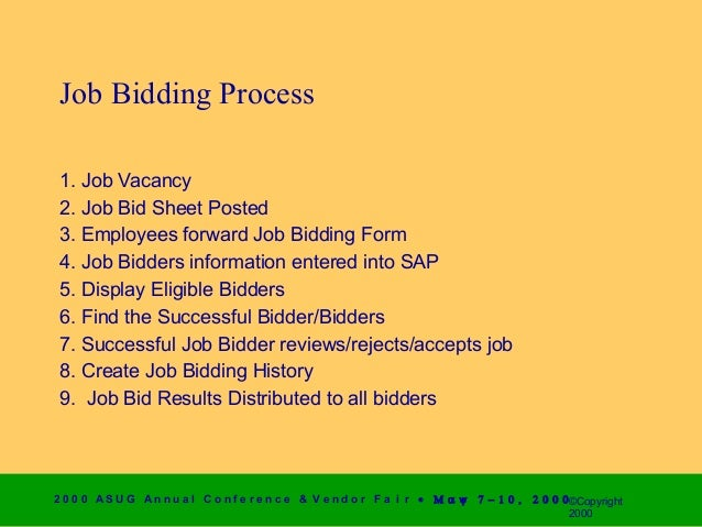 job bid sheet