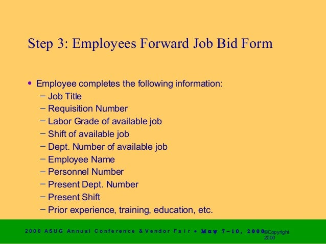 shift bid form