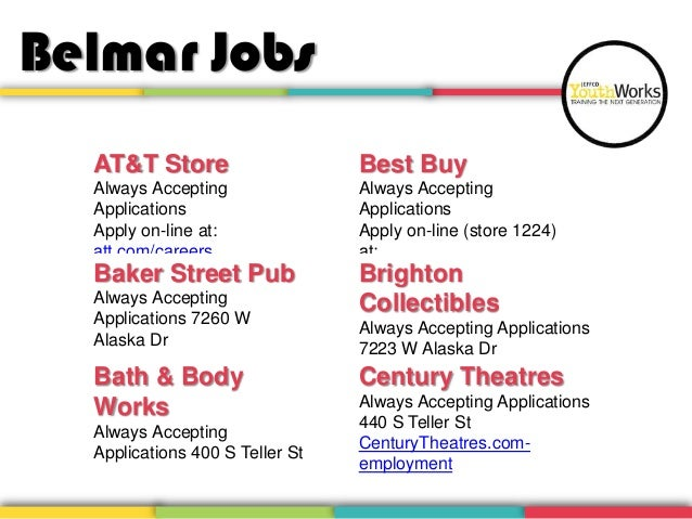 wadsworth bypass 2 belmar jobs att store best buy always accepting applications apply