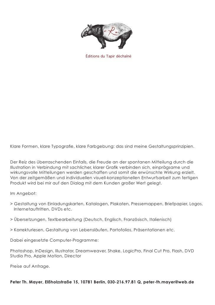 Éditions du Tapir déchaînéKlare Formen, klare Typografie, klare Farbgebung: das sind meine Gestaltungsprinzipien.Der Reiz d...