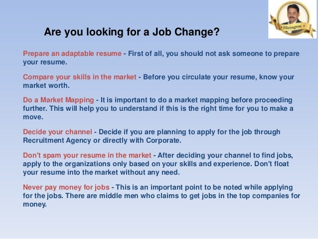 are you looking for a job change
