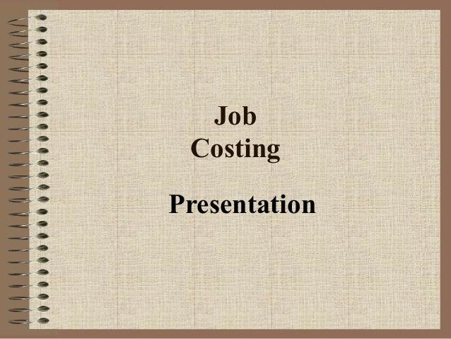 Job Costing Presentation