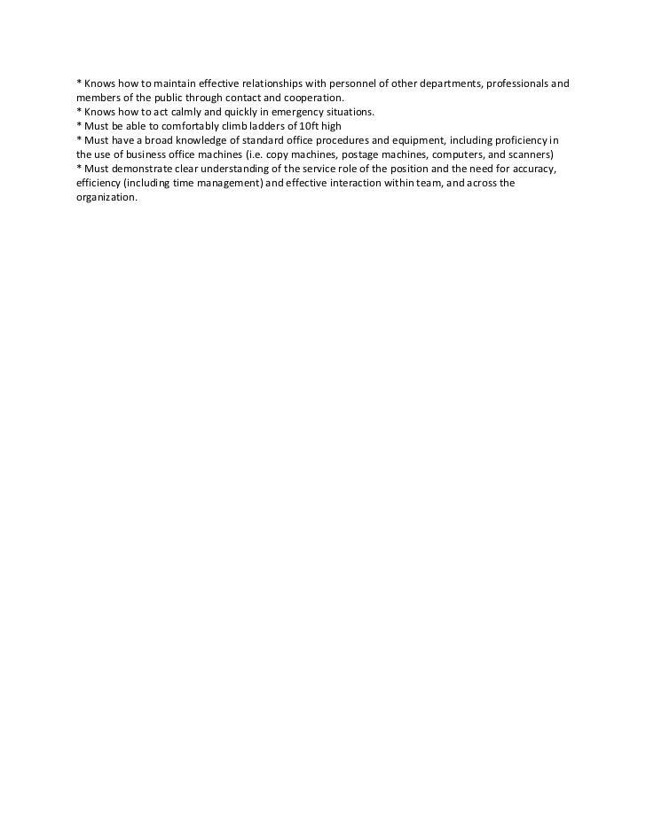 Facilities Coordinator Job Descprition