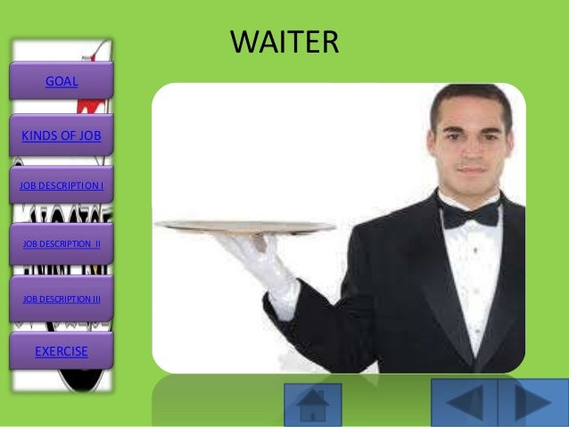 captain waiter job description resume