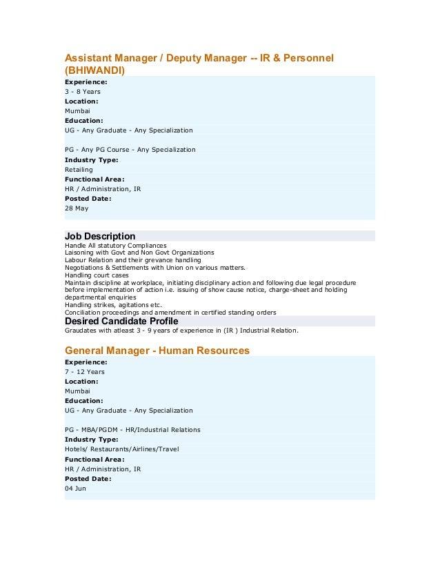 What Does HR do - Job Descriptions