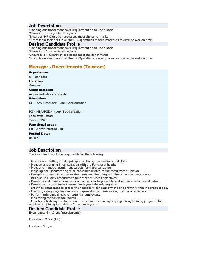 Courier Job Description Resume