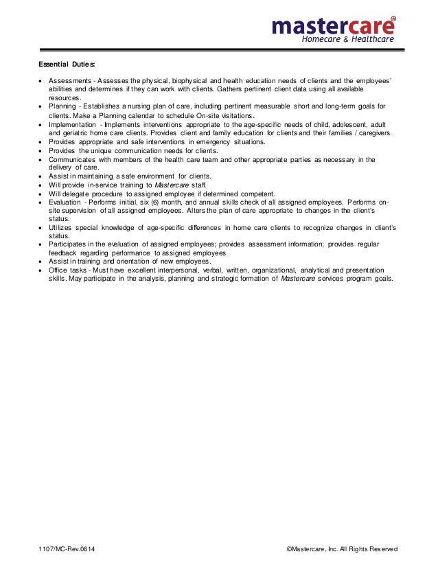 Job description rn supervisor – Rn Job Description