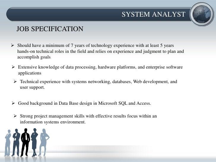 SYSTEM ANALYST JOB ...