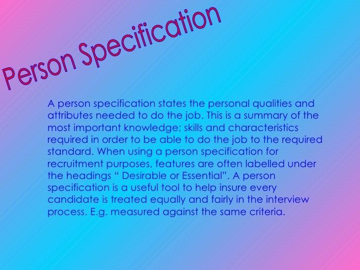 importance of job specification pdf