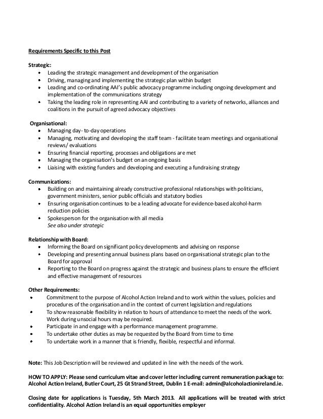 Ceo job description - Chief operating officer qualifications ...