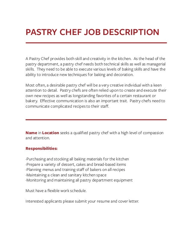 Pastry Chef Responsibilities Ucsc Cover Letter Choice