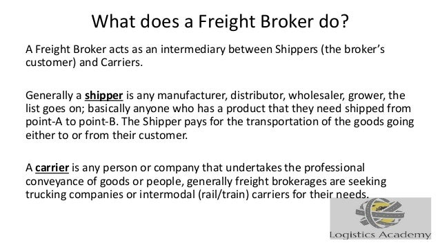 Job Description For Freight Brokers And Freight Agents Logisticsacad