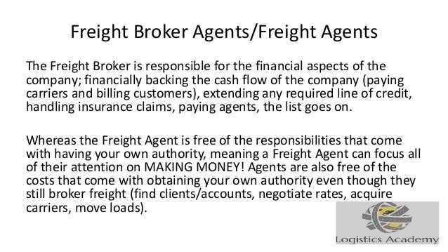 Job Description For Freight Brokers And Freight Agents Logisticsacad…