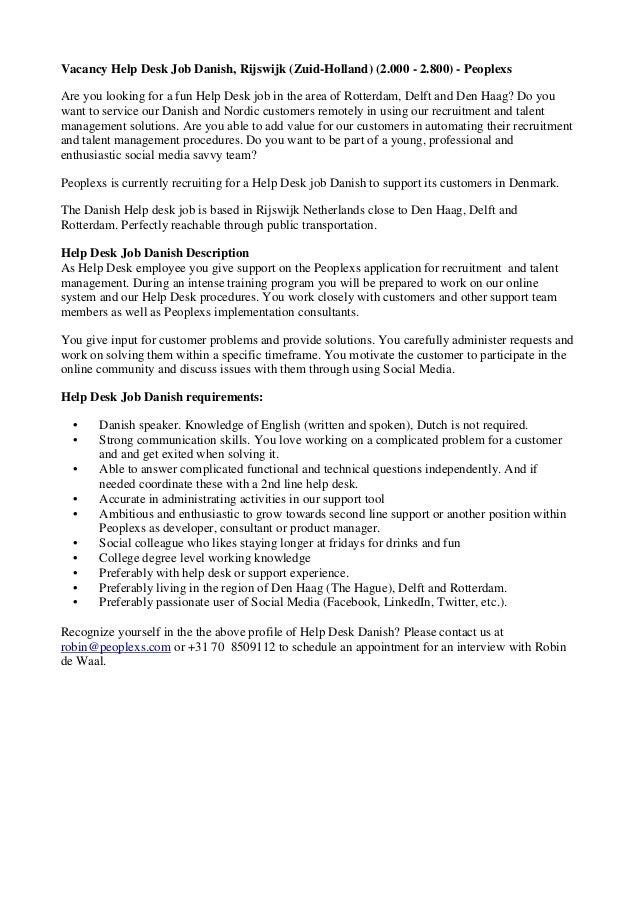 executive it support job description