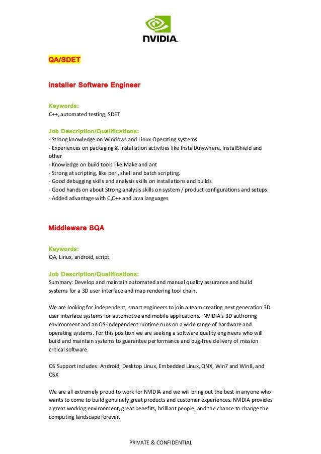 Java Build Engineer Job Description