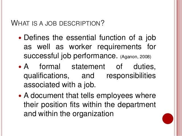 job responsibilities