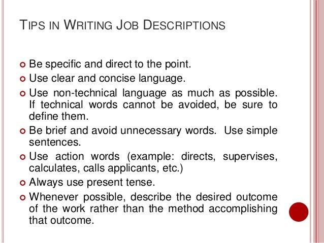 Job description report – Technical Writer Job Description