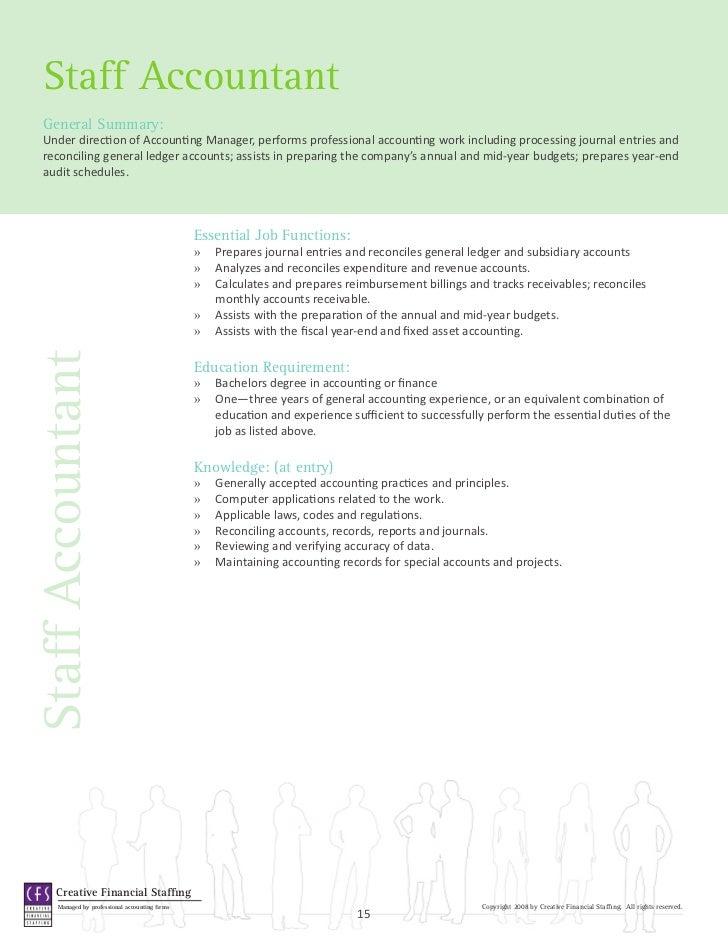 Staff Accountant Duties. Accounting Finance Job Descriptions .