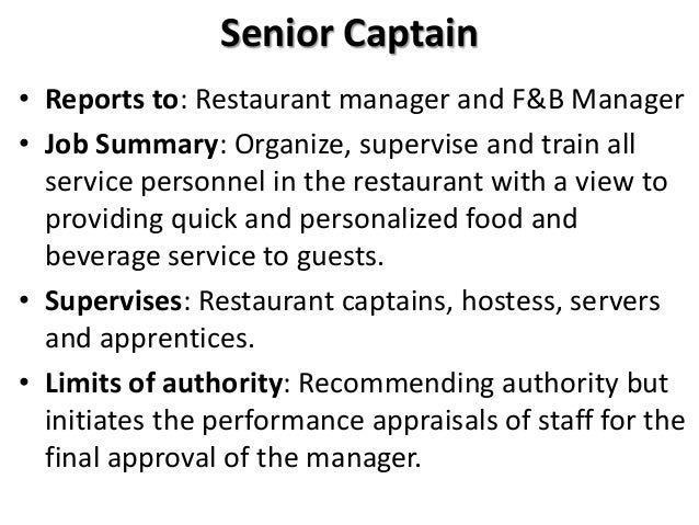 food and beverage hostess job description