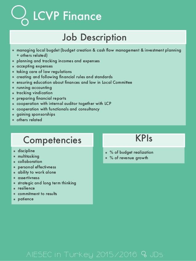 budget manager job description