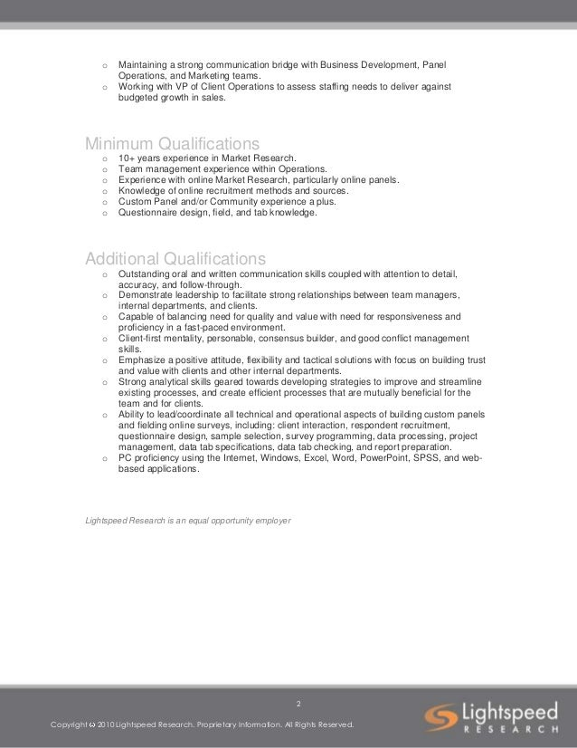 Job Description Template Client Operations Director- Custom Panels 2…