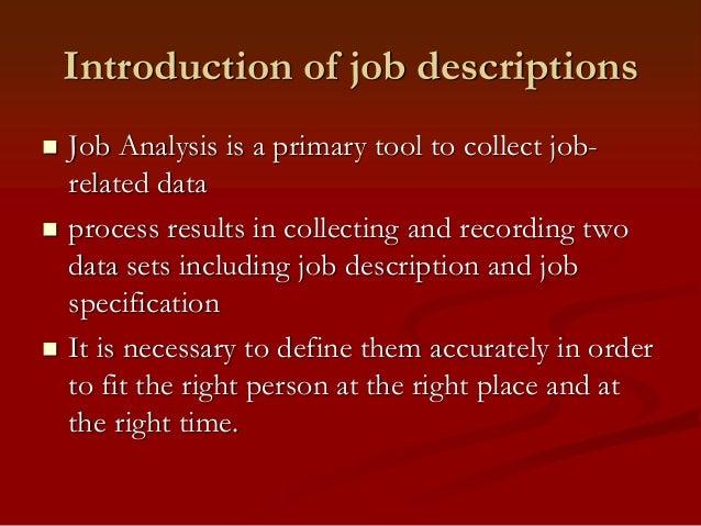importance of job descriptions pdf