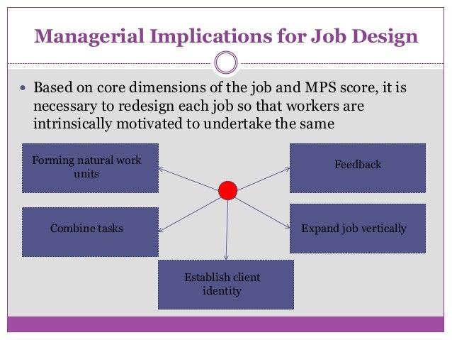job design and evaluation