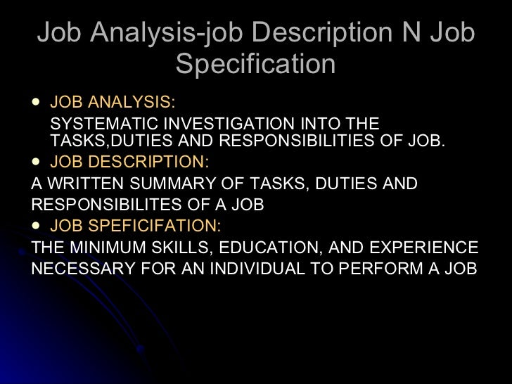 job design job analysis job analysis job