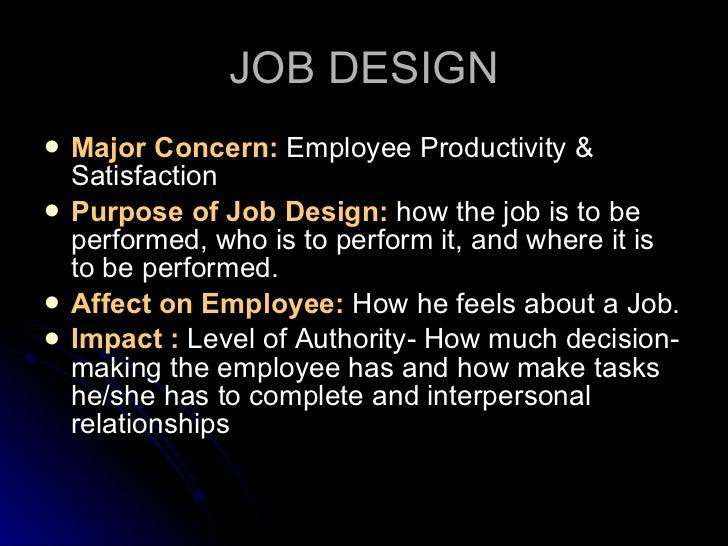 Job design job analysis