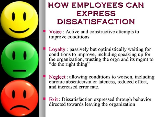 job dissatisfaction