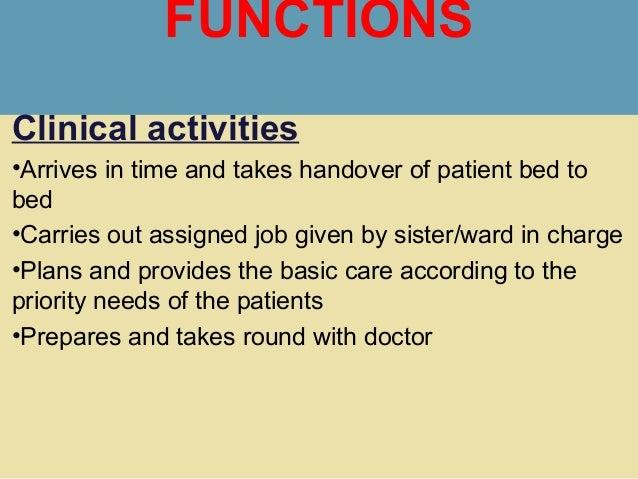 charge nurse job description
