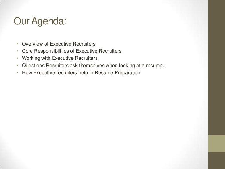 executive recruiter resume