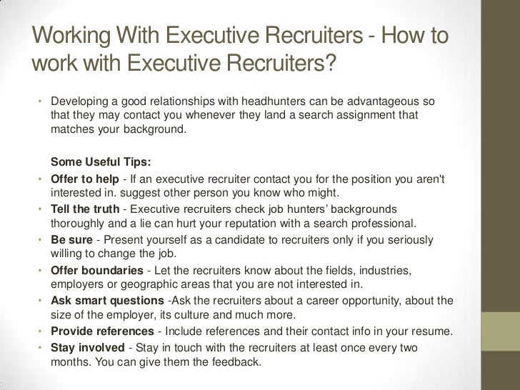 Job duties of an executive recruiter – Recruiter Job Description