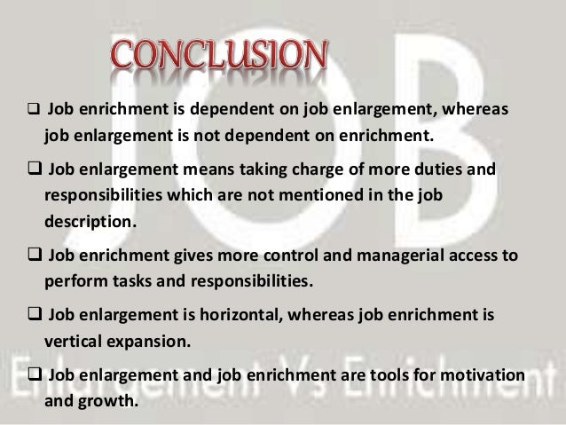 example of job enrichment and enlargement