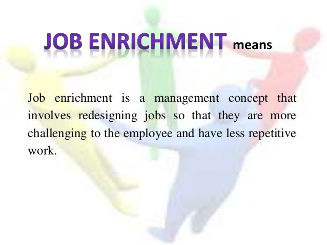 what is job enrichment in hrm