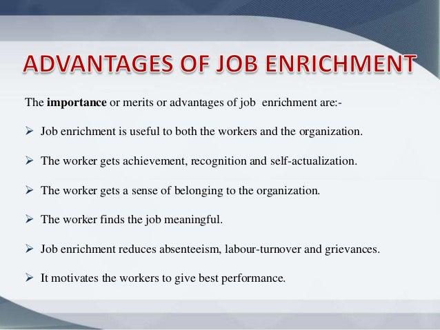 example of job enrichment