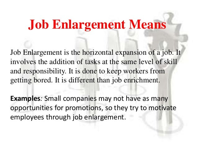 job enlargement and job enrichment pdf