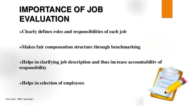 Job Evaluation - Human Resource Management