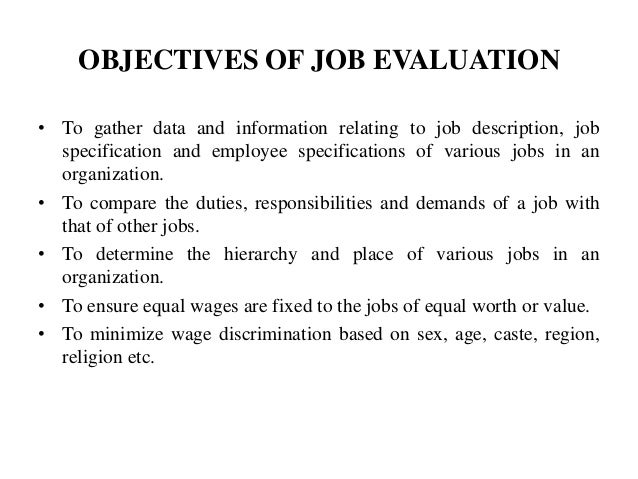 Superb OBJECTIVES OF JOB ... To Objectives For Jobs