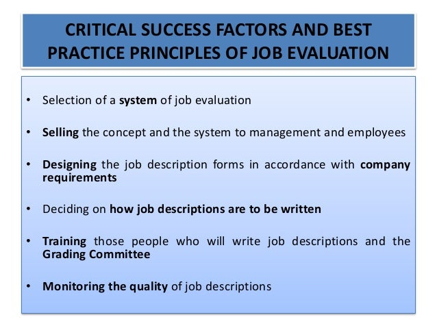 job evaluation and grading system business essay Tips to cut writing assignment grading time search the site go for educators  have students write at the top of their papers, evaluation for (element.