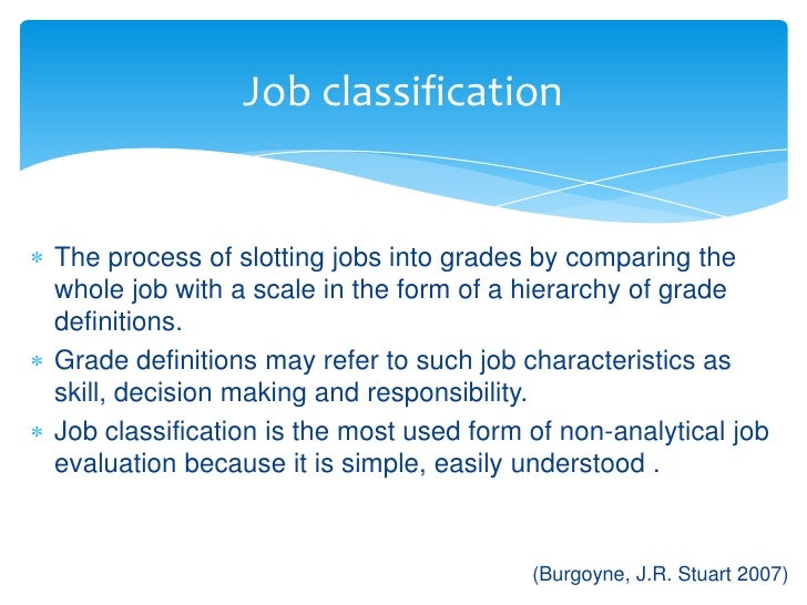 Job Evaluation & Grading