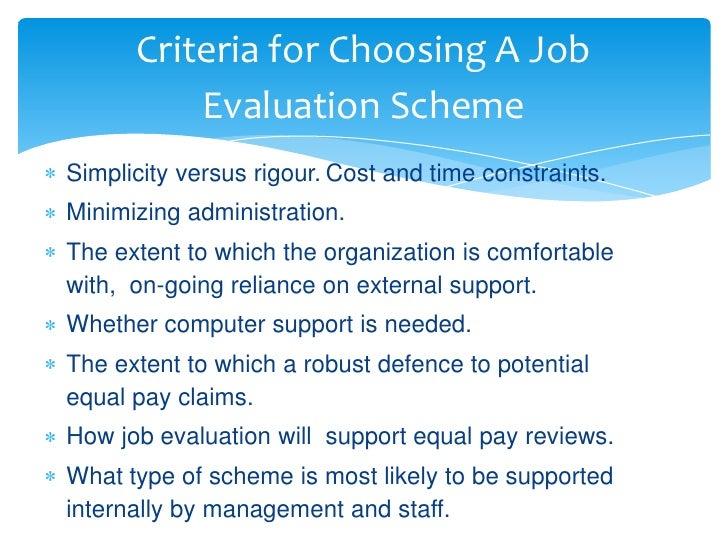 Job evaluation & grading.