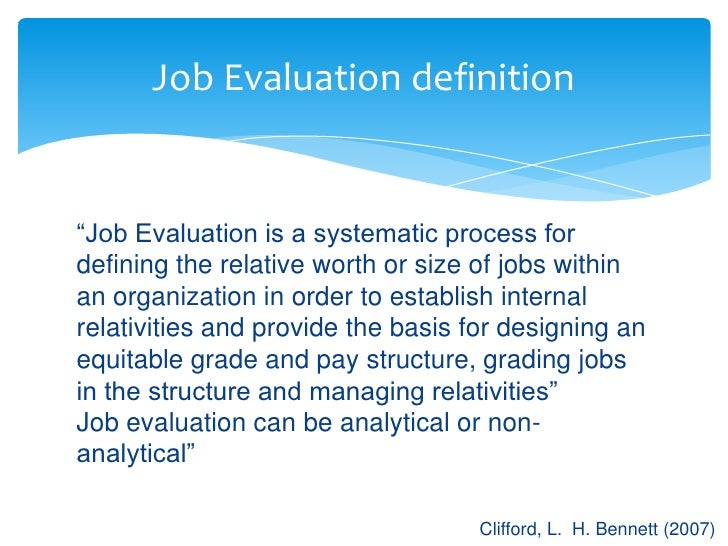 Job Evaluation  Grading