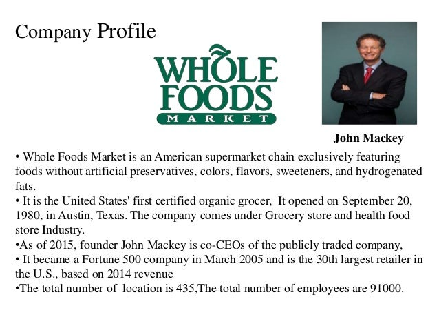 case analysis john mackey whole foods Free case study solution & analysis case study whole foods do you think john mackey has a good strategic vision for whole foods.